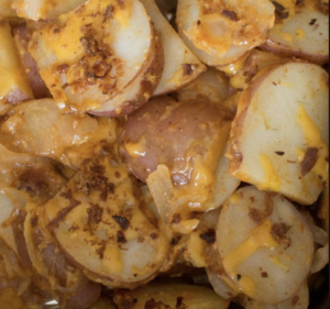 Cheddar Bacon BBQ Grilled Potatoes Recipe