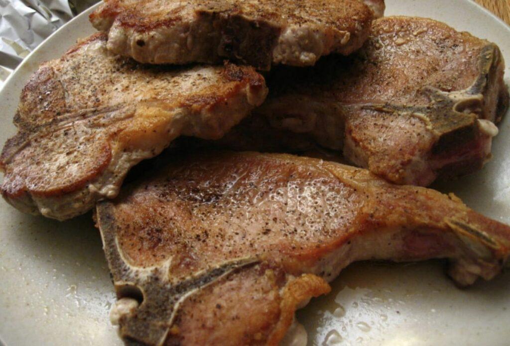 Pork Chopsin Pit Boss Pellet Grill